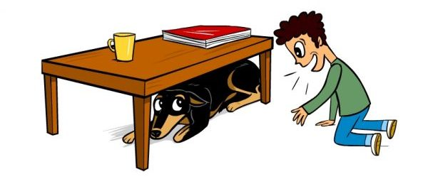 Dog and cat under the desk clipart clip What Does It Mean When Your Dog Lifts a Paw? clip