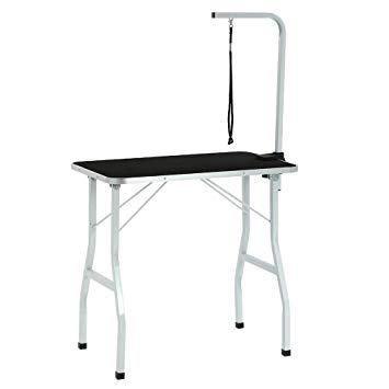 Dog and cat under the desk clipart picture transparent library BestPet Dog Grooming Table Adjustable Heavy Duty Pet Cat Grooming Table  with Arm/Noose picture transparent library