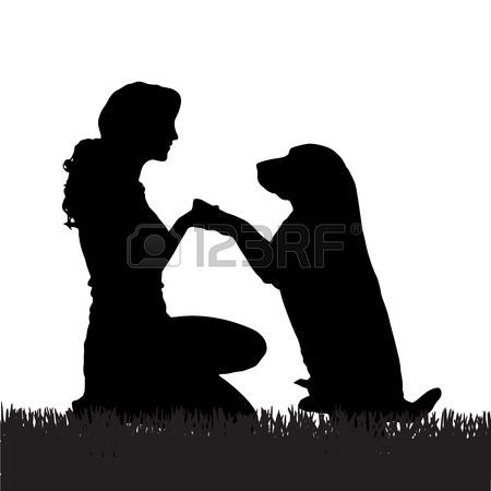 Dog and girl clipart black and white clip art freeuse Dog Stock Vector Illustration And Royalty Free Dog Clipart | You had ... clip art freeuse