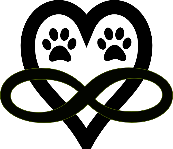 Heart paw print clipart svg Infinity Single Cerise Clip Art at Clker.com - vector clip art ... svg