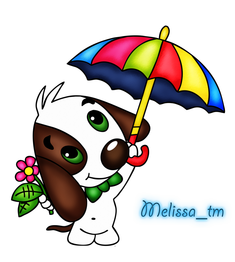 Dog clipart jpg clip art freeuse stock cute dog with umbrella png by Melissa-tm on DeviantArt clip art freeuse stock