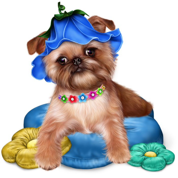 Dog and puppy clipart vector royalty free Превью brussels_griffon_puppy24_resultaat (700x700, 543Kb) | Animal ... vector royalty free