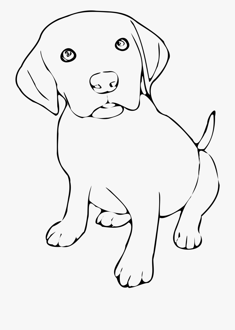 Picture of a dog clipart black and white clip library download Pet Clipart Black And White - Puppy Black And White #269069 - Free ... clip library download