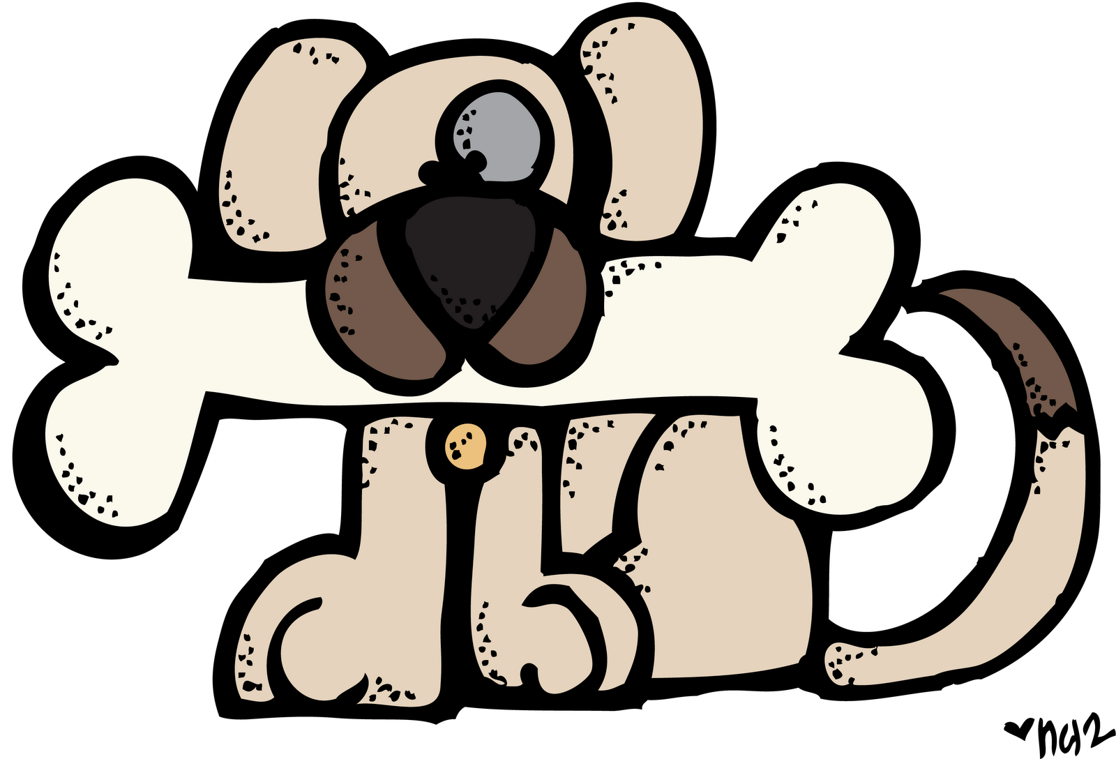 Reading dog clipart clip library library dog+w+bone+melonheadz+colored.png (1600×1088) | Melonheadz ... clip library library