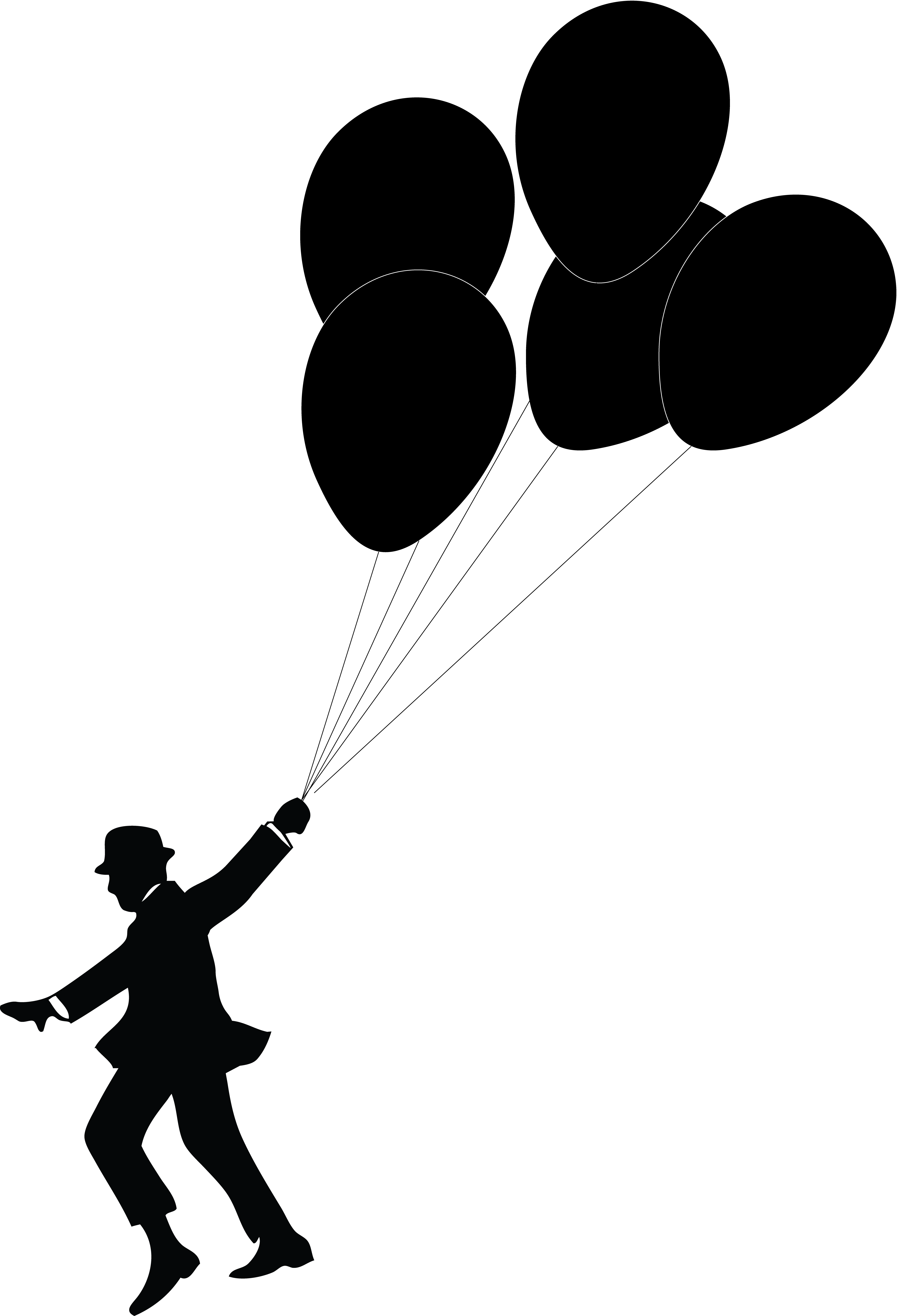 Dog balloon clipart clipart library Silhouette Balloon at GetDrawings.com | Free for personal use ... clipart library