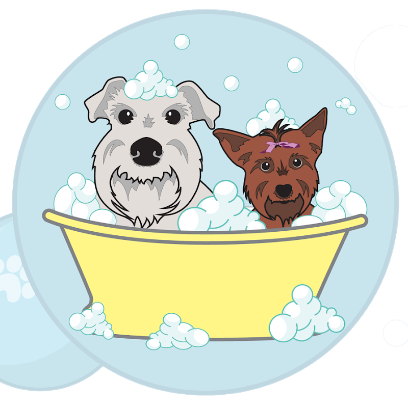 Dog wash clipart banner black and white stock Dog bath clipart free banner black and white stock