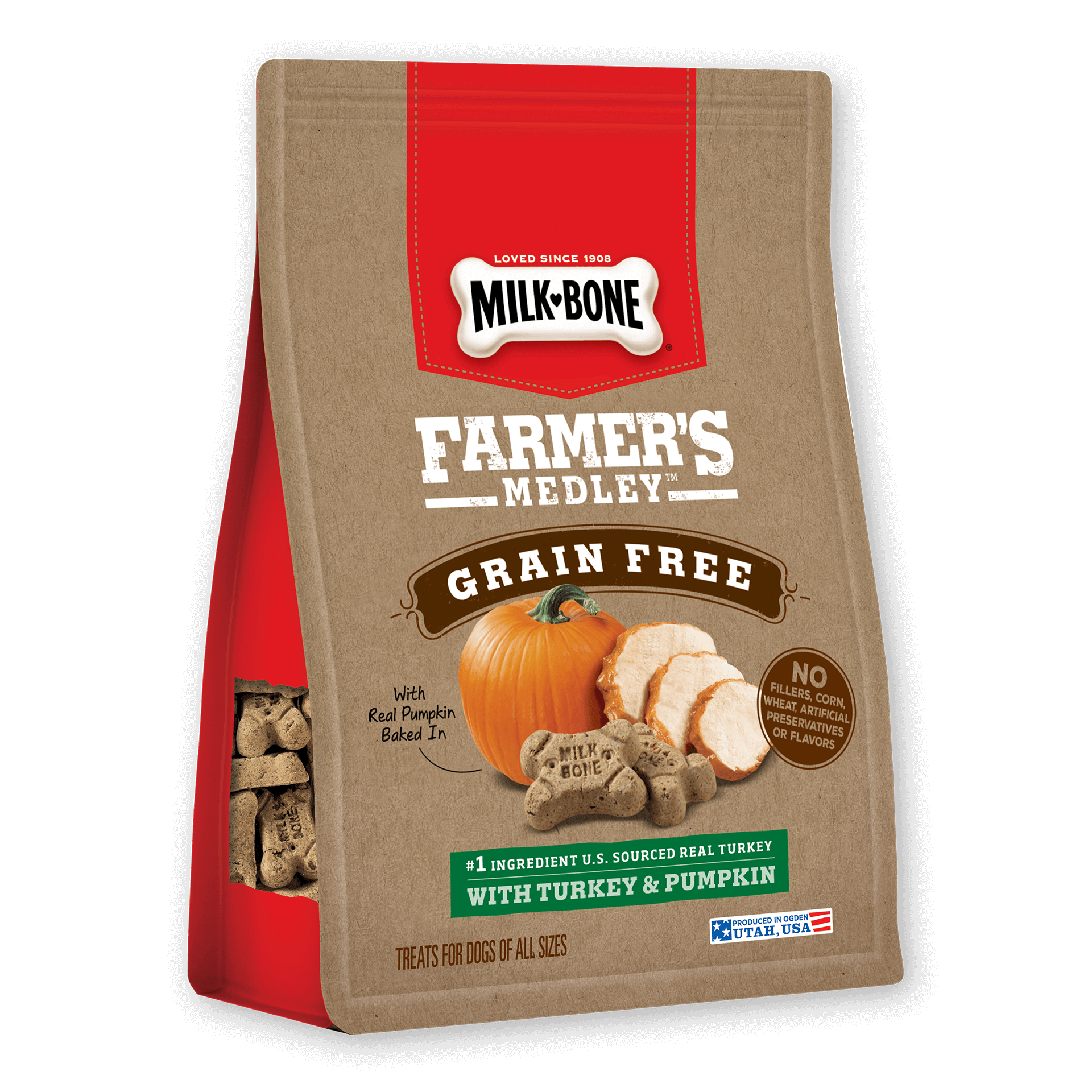 Dog biscuit clipart graphic freeuse stock Farmer's Medley®: Dog Biscuits with No Fillers | Milk-Bone® graphic freeuse stock
