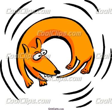 Dog biting tail clipart image freeuse Dog chasing tail clipart - ClipartFest image freeuse