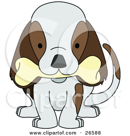 Dog biting tail clipart clip black and white stock Royalty-Free (RF) Dog Bone Clipart, Illustrations, Vector Graphics #1 clip black and white stock