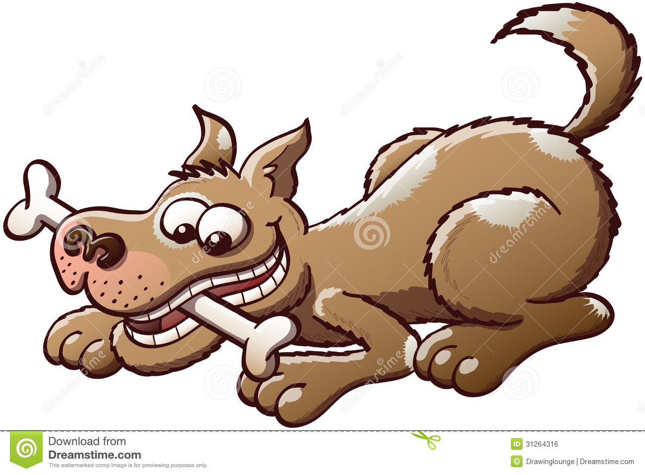 Dog biting tail clipart picture freeuse stock Happy Dog chewing A Bone Royalty Free Stock Image - Image: 31264316 picture freeuse stock