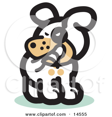 Dog biting tail clipart image freeuse library Silly Dog Biting His Own Tail Clipart Illustration by Andy Nortnik ... image freeuse library