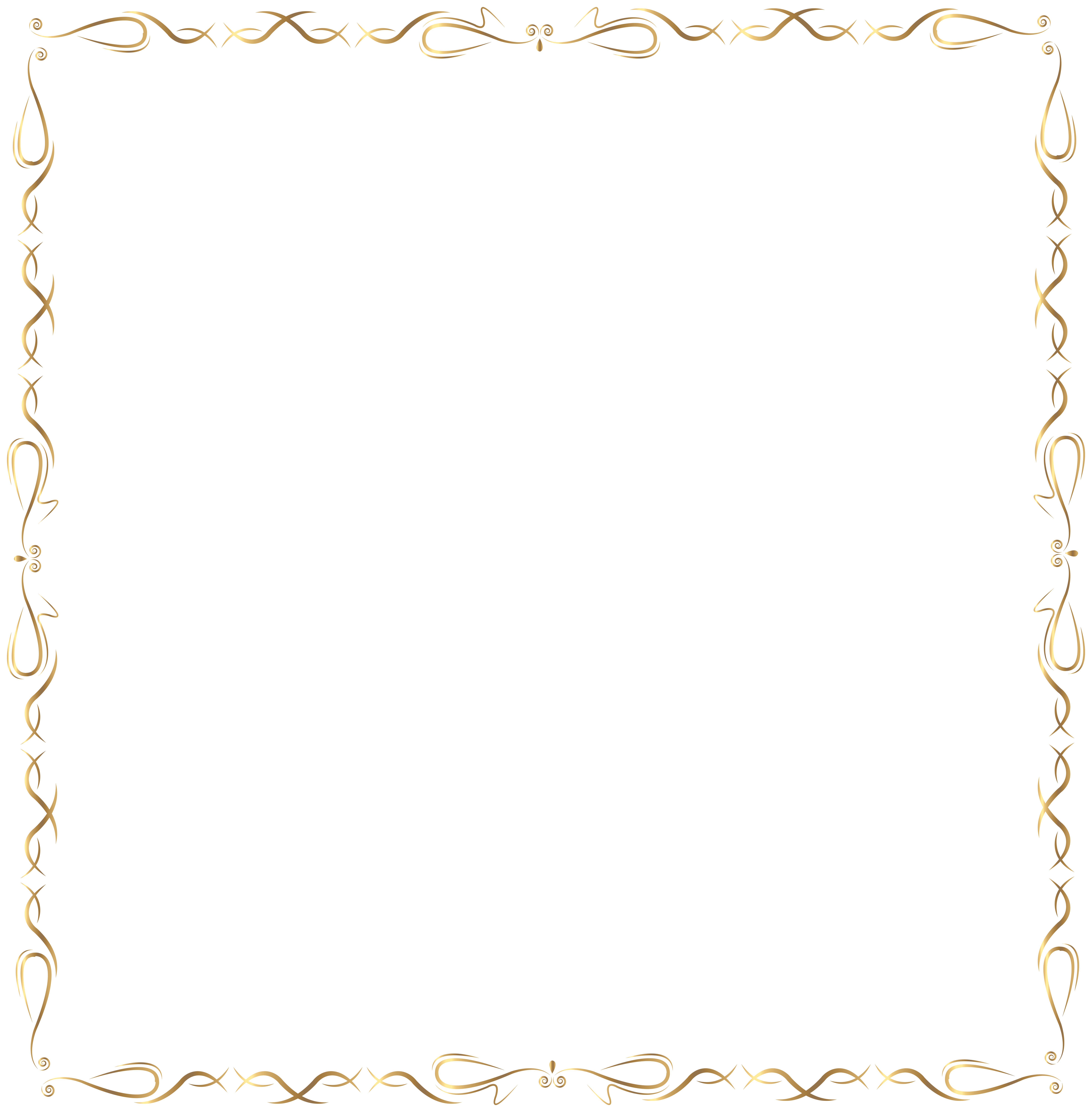 Free clipart dog bone borders graphic royalty free Golden Border PNG Clip Art Image | Gallery Yopriceville - High ... graphic royalty free