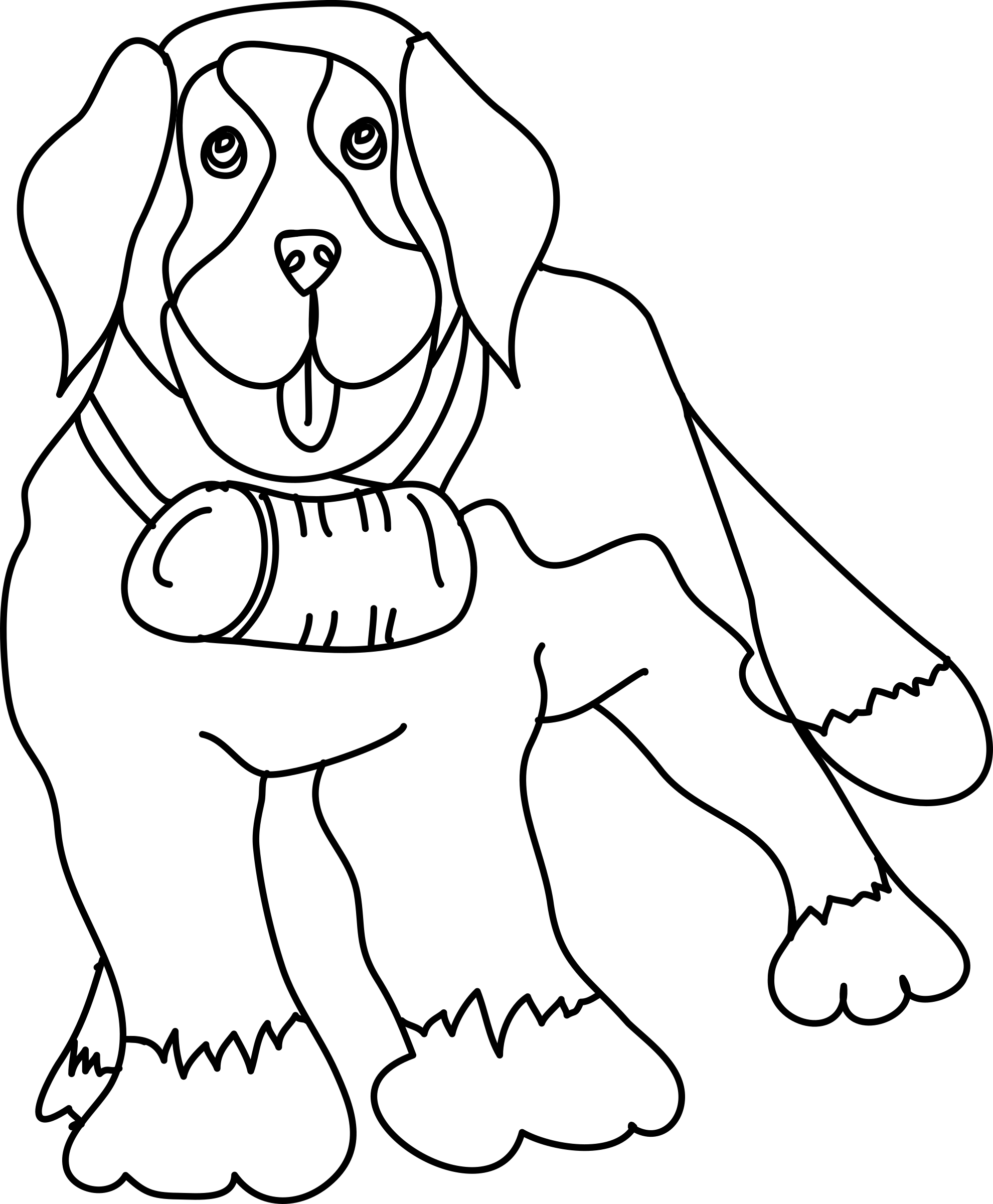 Dog in snow clipart clipart black and white library Dog Outline Drawing at GetDrawings.com | Free for personal use Dog ... clipart black and white library