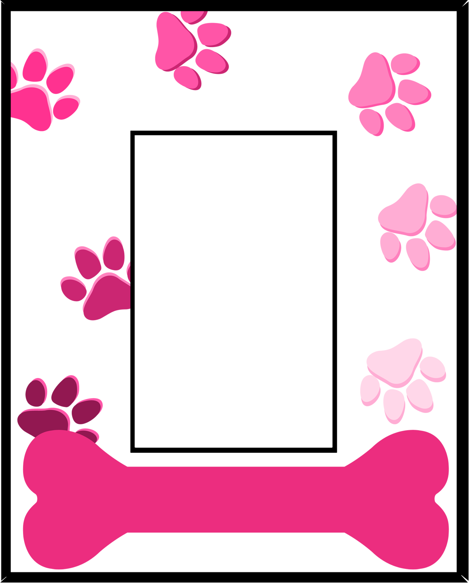Dog frame clipart. Picture frames amazon in