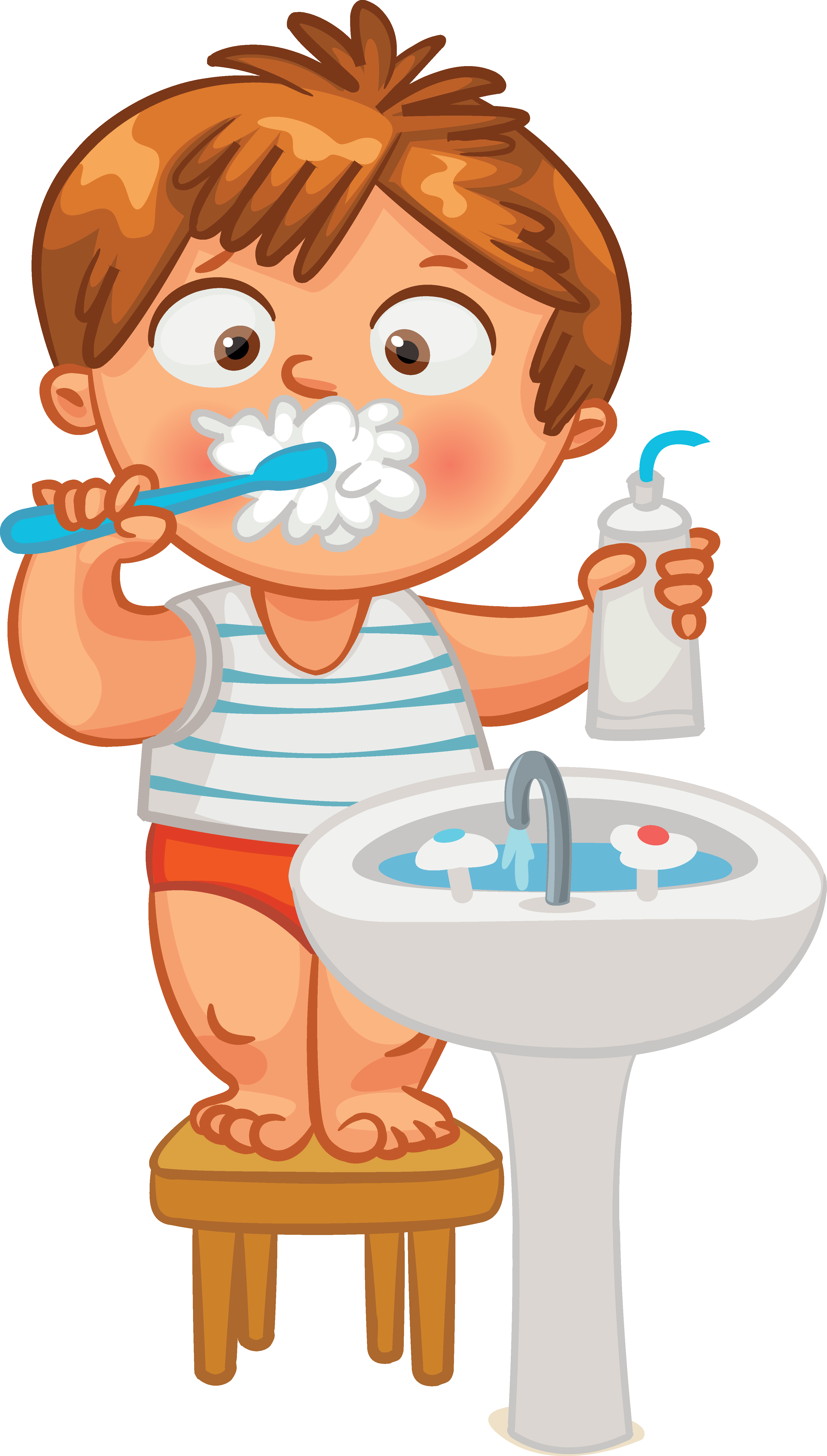 Dog brushing teeth clipart vector black and white library Tooth brushing Human tooth Clip art - others 3543*6233 transprent ... vector black and white library