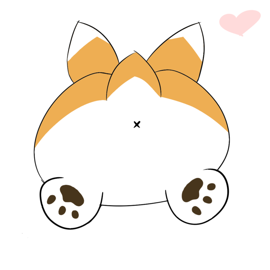 Dog butt clipart clip free Corgi Butt (Sploot) by CirclePeeps on DeviantArt clip free