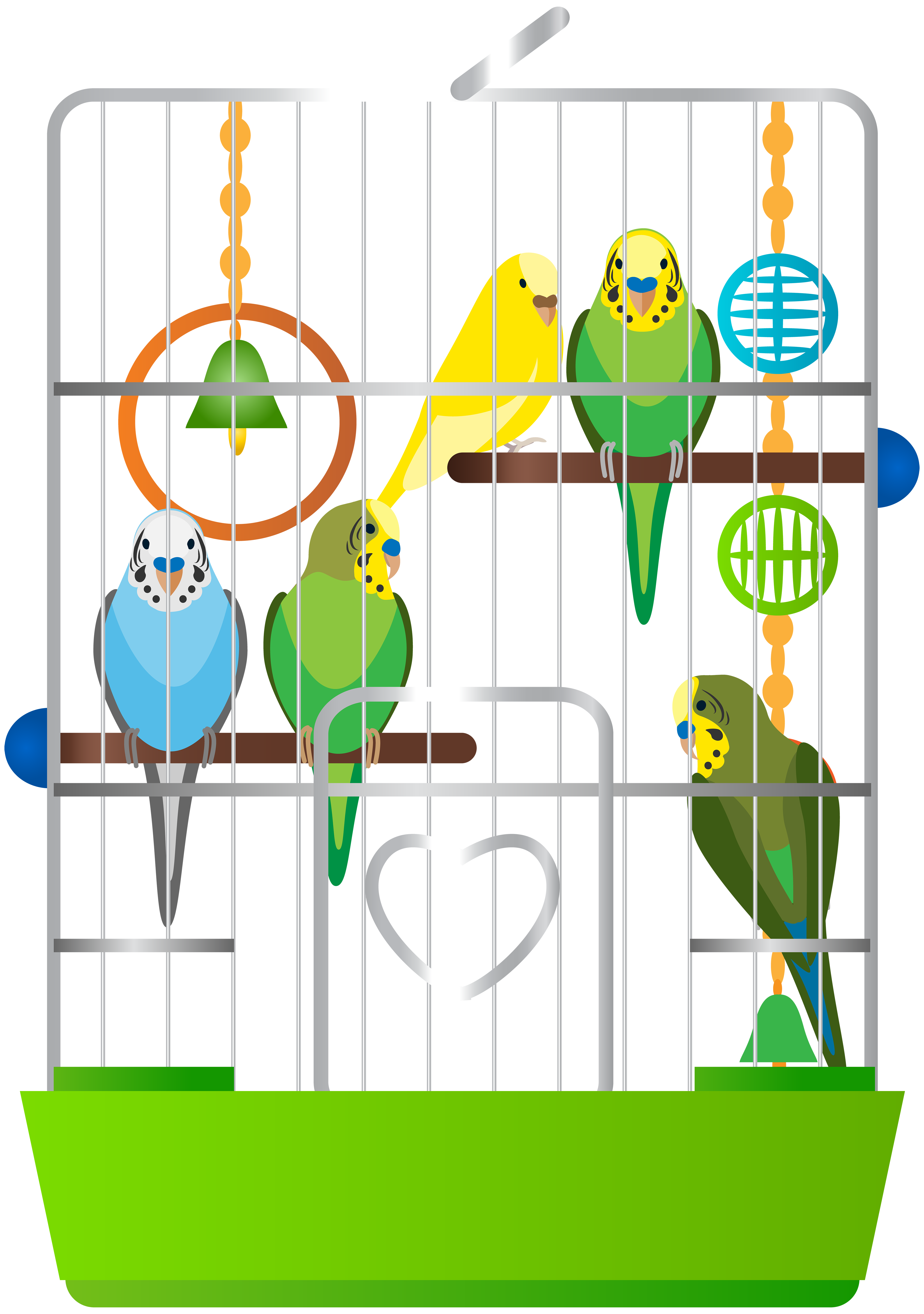 Dog crate clipart graphic free Cage with Parrots PNG Clip Art - Best WEB Clipart graphic free