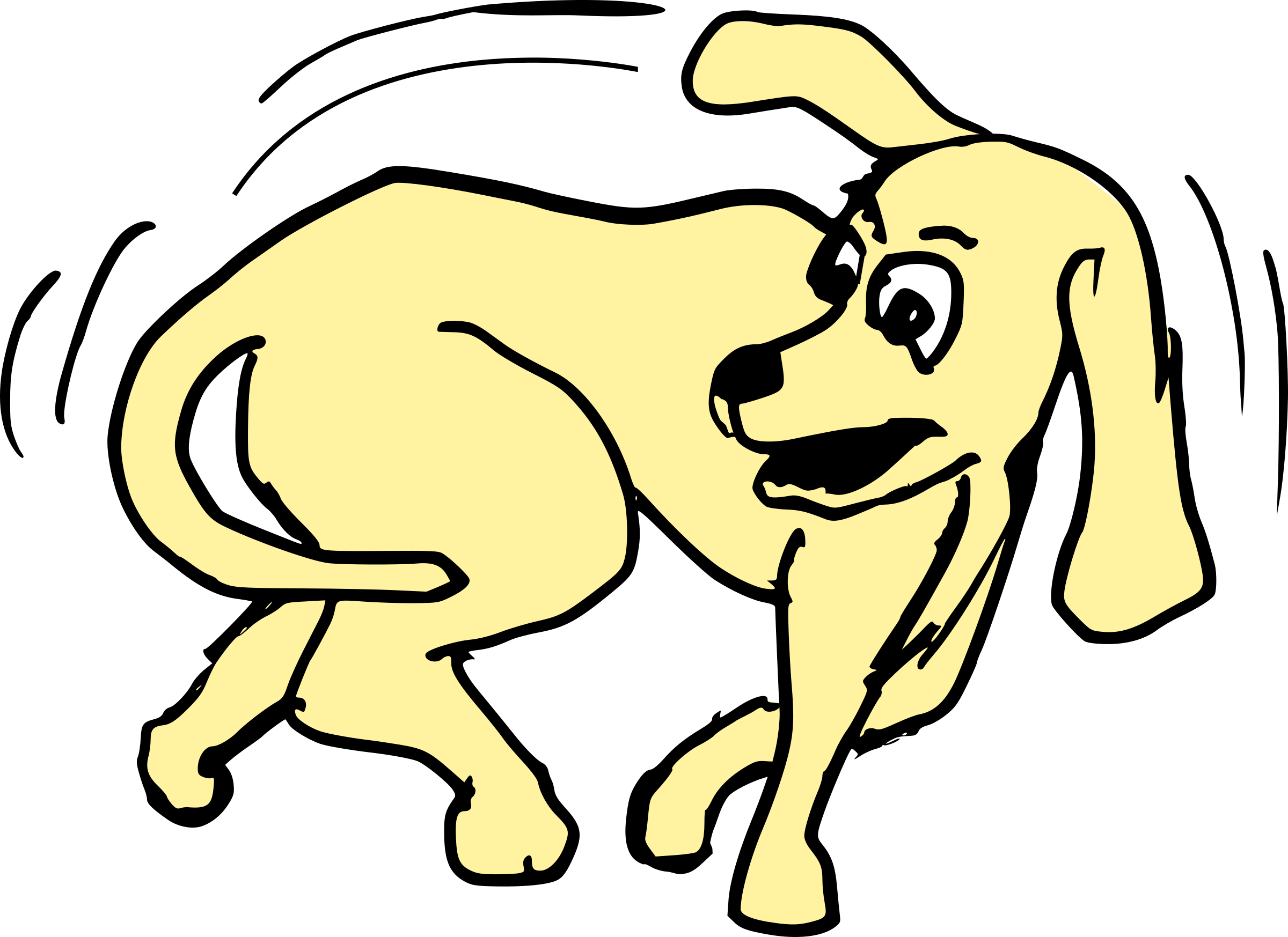 Dog chasing clipart image freeuse download Clipart - Agitated Dog 5 image freeuse download