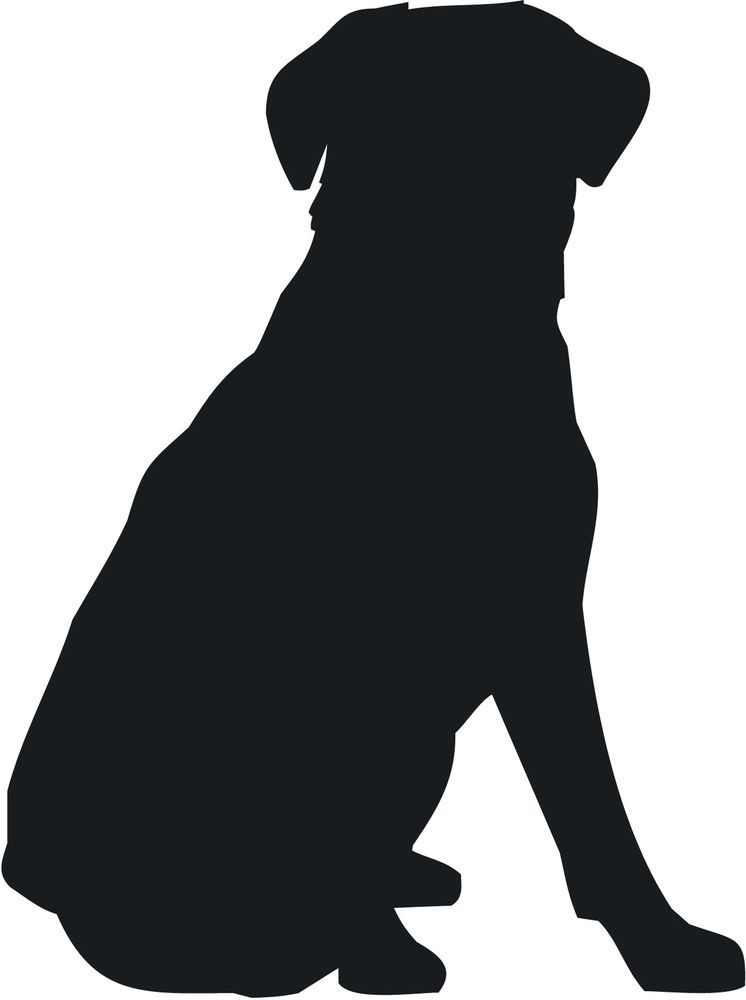 Dog chasing leaves clipart image library dog silhouette | Sitting Dog Silhouette Labrador retriever sit dog ... image library