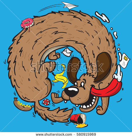 Dog chasing tail clipart image transparent library Dog Chasing Tail Stock Photos, Royalty-Free Images & Vectors ... image transparent library