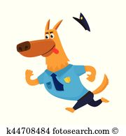 Dog chasing tail clipart. Eps images clip art
