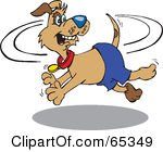 Royalty free rf illustrations. Dog chasing tail clipart