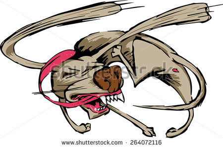 Dog chasing tail clipart. Stock photos royalty free