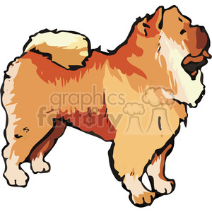Dog chow clipart vector library stock Chow Chow dog clipart. Royalty-free clipart # 131708 vector library stock