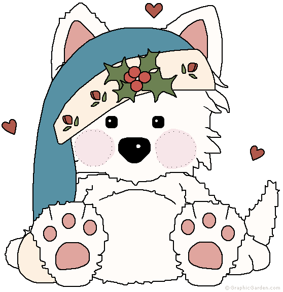 Dog christmas clipart picture black and white download christmas pup | cute clip art | Pinterest | Pup, Clip art and Natal picture black and white download