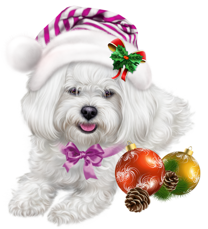 Dog christmas clipart vector library Pin by ~Girly❤️Girl~ on Dog 3D Tubes 2 | Pinterest vector library