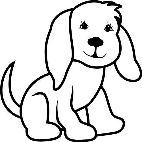 Dog clipart black and white outline jpg transparent stock Dog Outline - Print Art | dog outlines | Dog outline, Animal outline ... jpg transparent stock