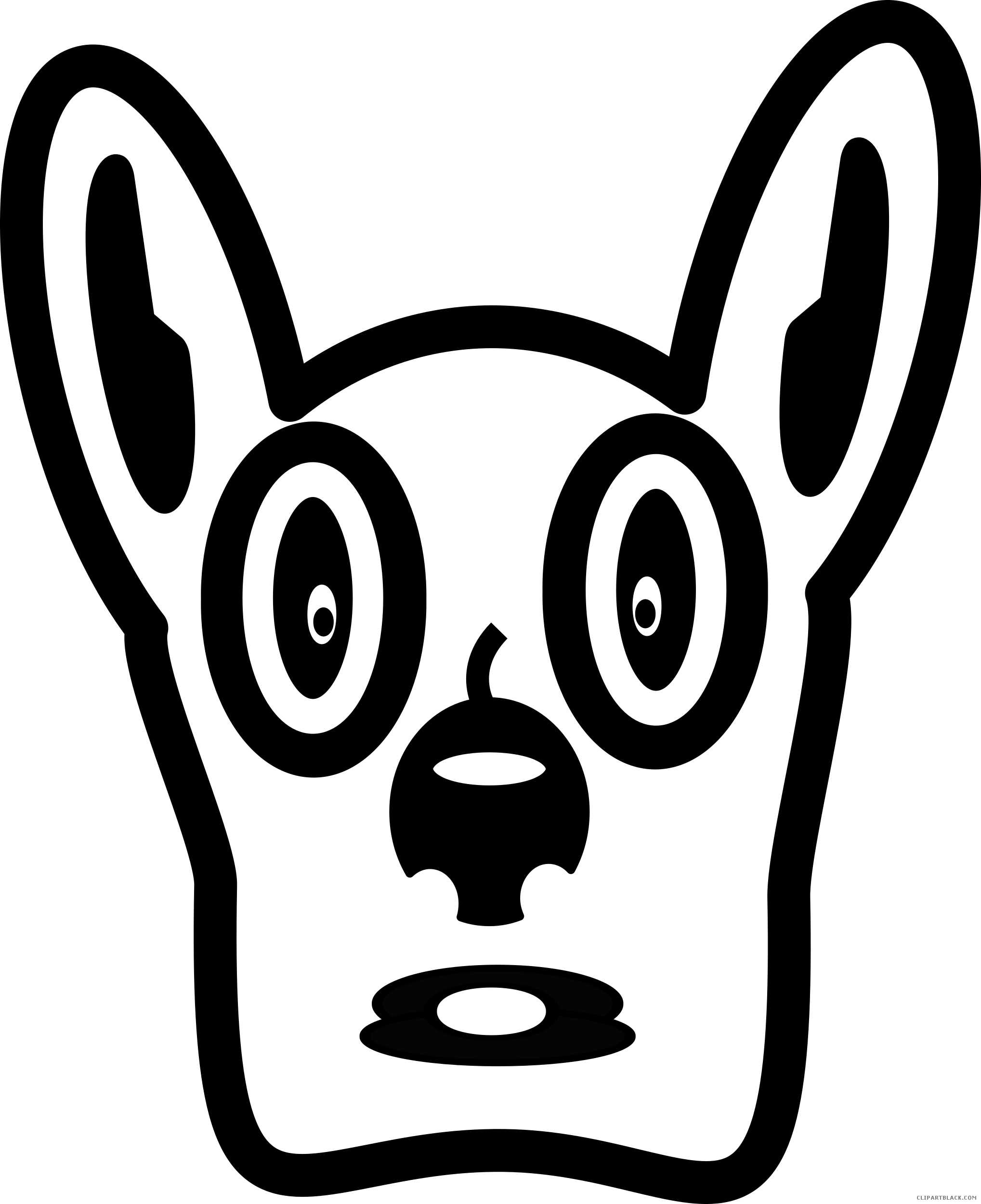 Dog clipart black white clipart royalty free library Dog Face Animal free black white clipart images clipartblack ... clipart royalty free library