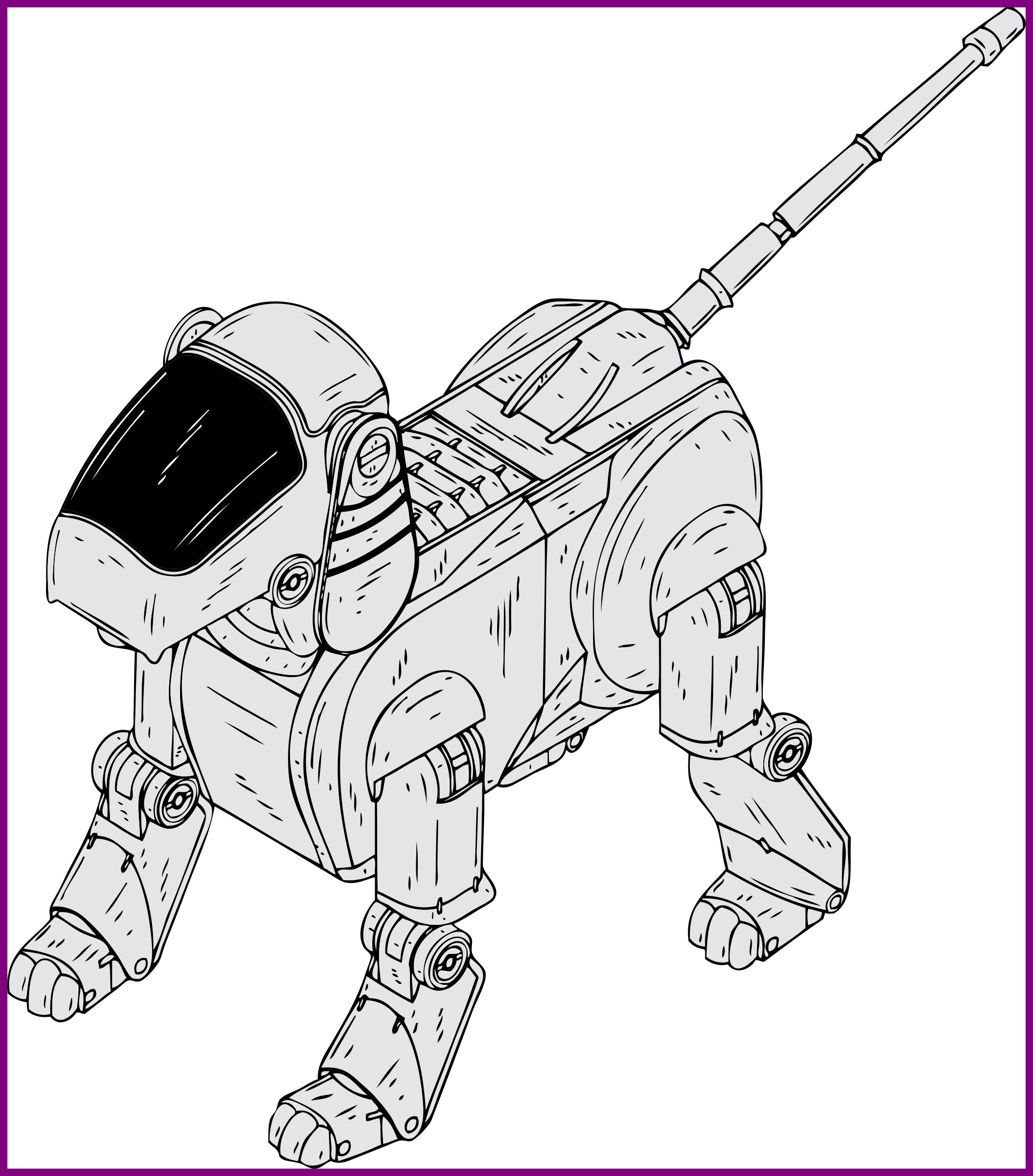Dog clipart coloring pages svg Stunning Clipart Robot Dog Pict For Coloring Pages Trends And Ideas ... svg