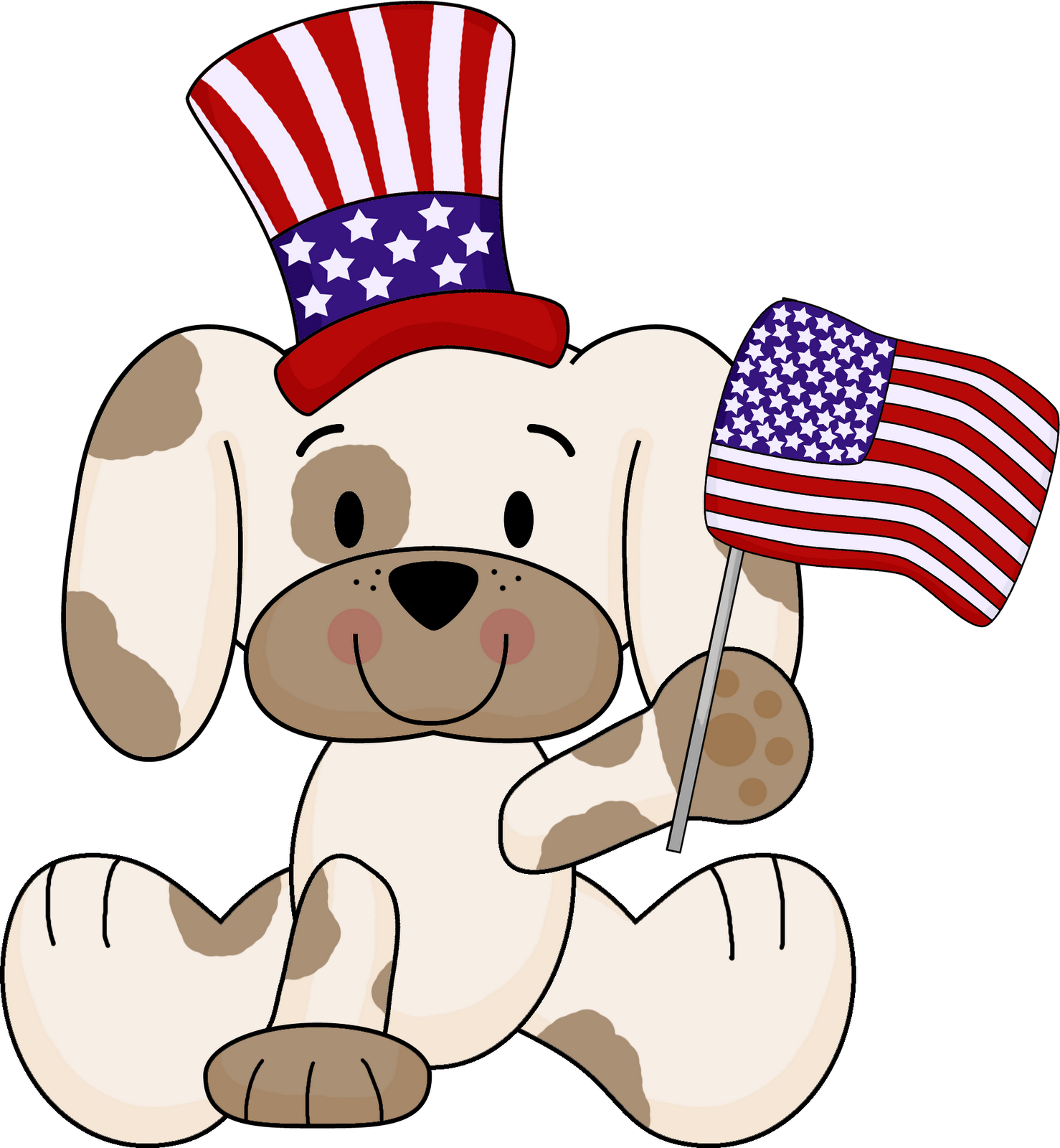 Dog clipart for kids png library stock Dog clipart memorial day - Graphics - Illustrations - Free Download ... png library stock
