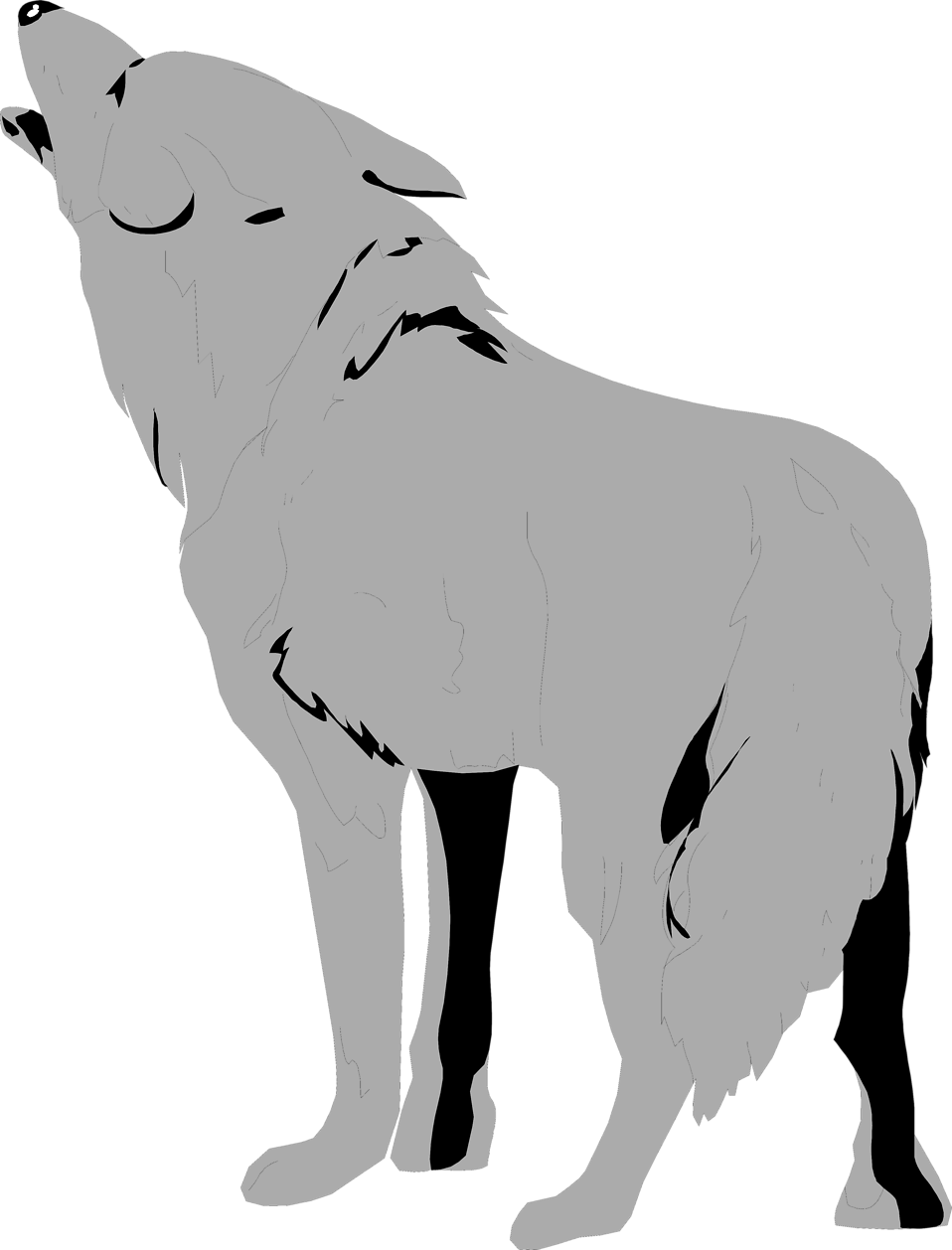 Dog clipart no background vector transparent Wolves | Free Stock Photo | Illustration of a coyote | # 3600 vector transparent