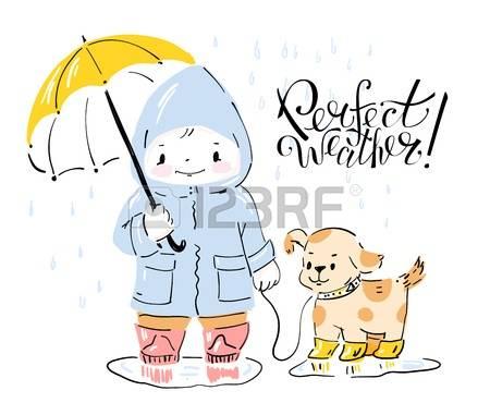 Dog clipart pastel jpg black and white library 117 Rain Girl Dog Stock Vector Illustration And Royalty Free Rain ... jpg black and white library