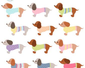 Dog clipart pastel clip art transparent stock Cute dog clip art – Etsy clip art transparent stock