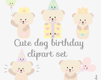 Dog clipart pastel jpg free download Kawaii dog clipart | Etsy jpg free download