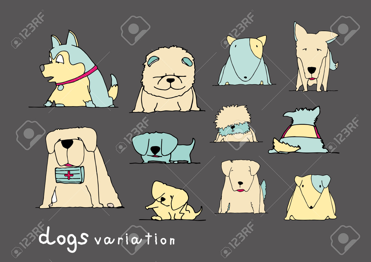 chow stock illustrations. Dog clipart pastel