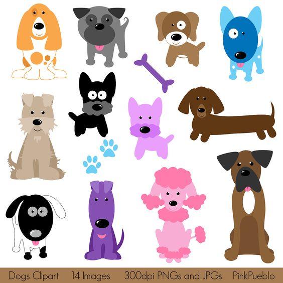 Dog clipart pastel svg black and white download Dog Clipart Clip Art, Puppy Clipart Clip Art Vectors - Commercial ... svg black and white download