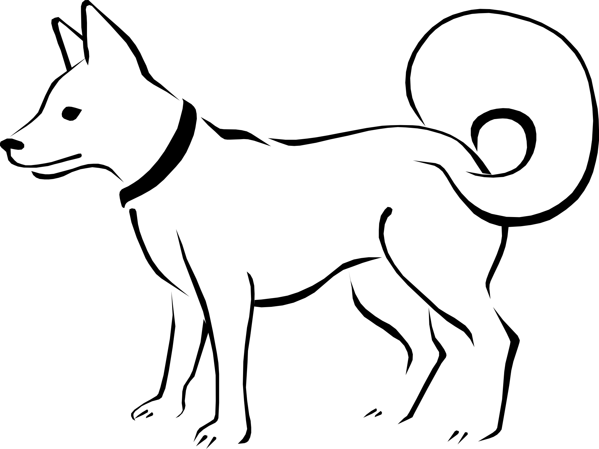 Inside house clipart black and white picture black and white download White dog clipart png - ClipartFest picture black and white download