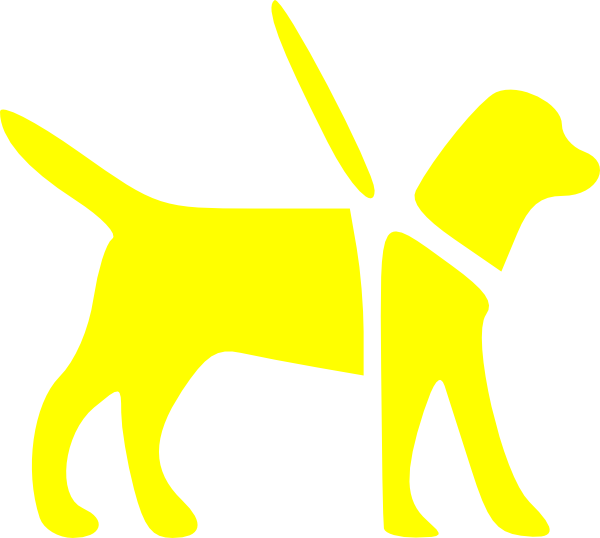 Royalty free dog clipart clip black and white Yellow Guide Dog Clip Art at Clker.com - vector clip art online ... clip black and white