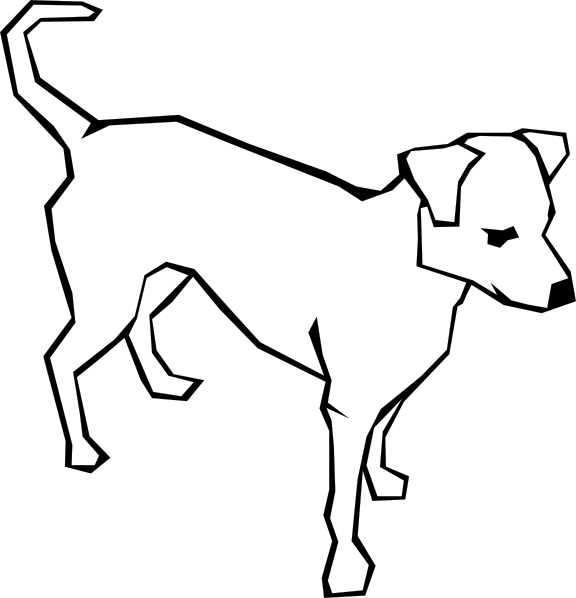 Dog clipart simple banner library Dog Simple Drawing Clip Art at Clker.com - vector clip art online ... banner library