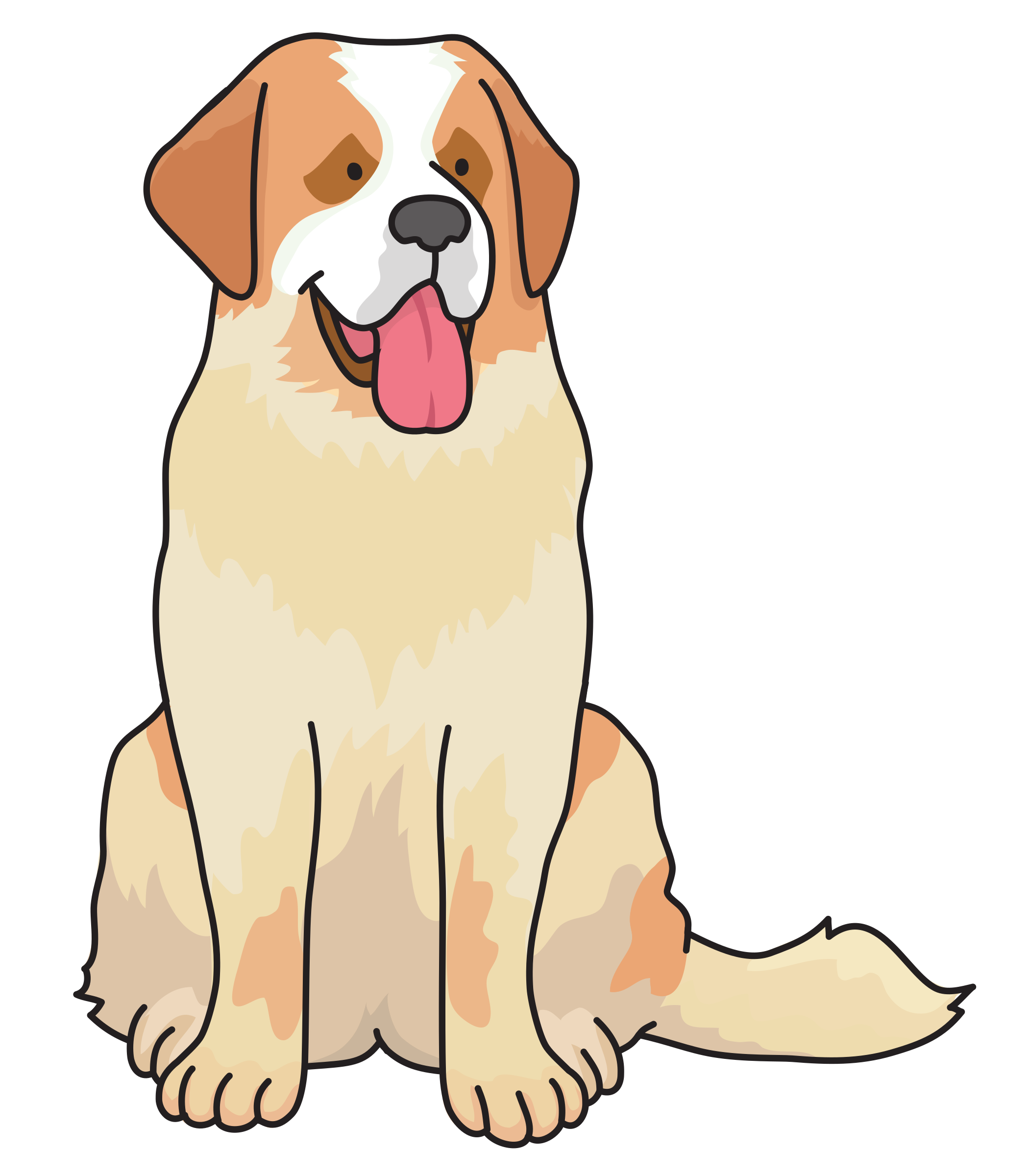 Saint bernard dog clipart png library download Clipart - dog - Saint Bernard png library download