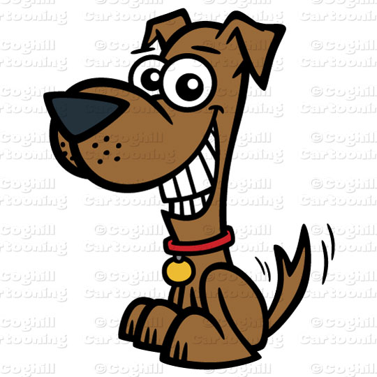 Dog clipart stock
