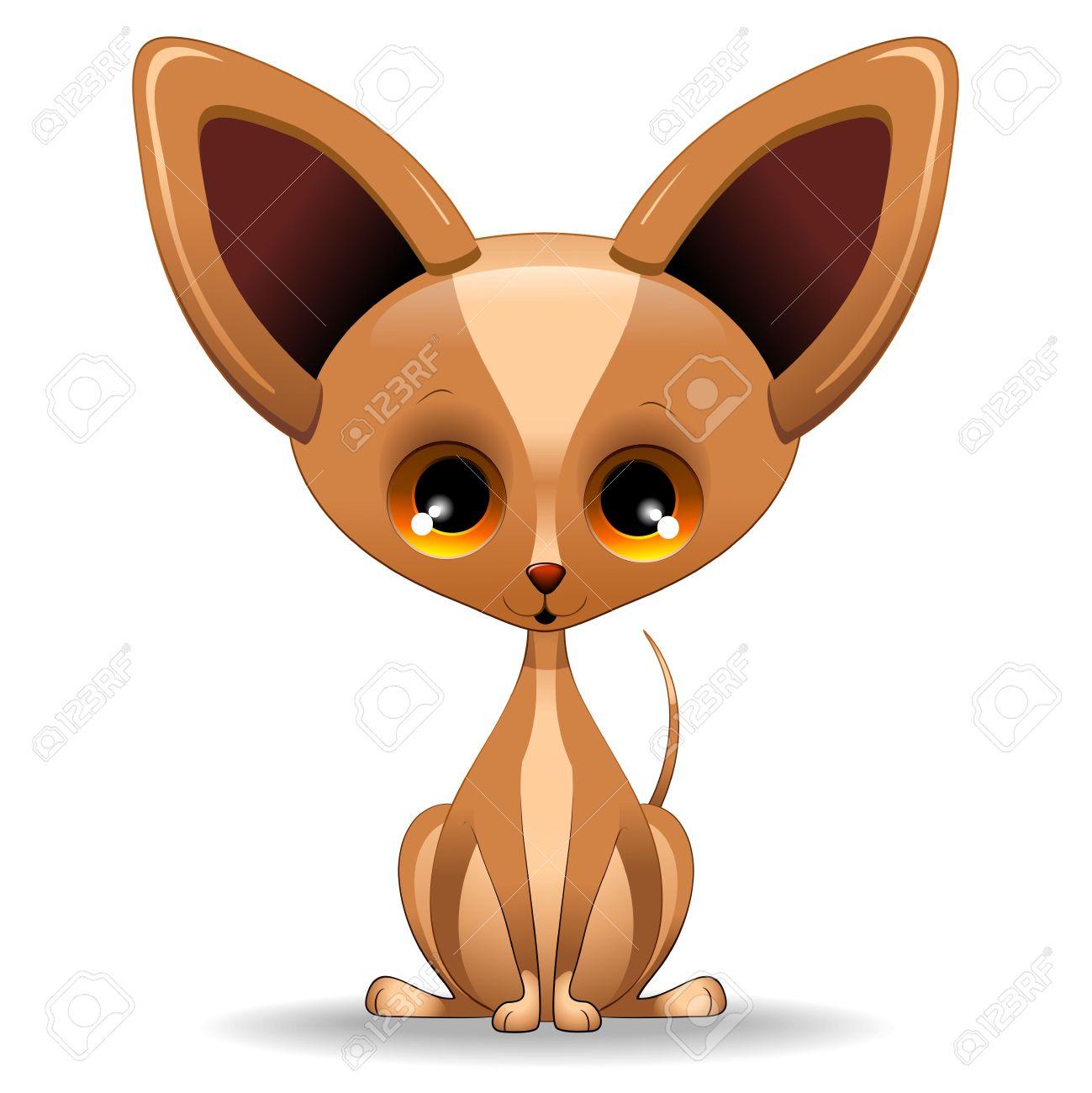 Chihuahua puppy cartoon clip. Dog clipart stock