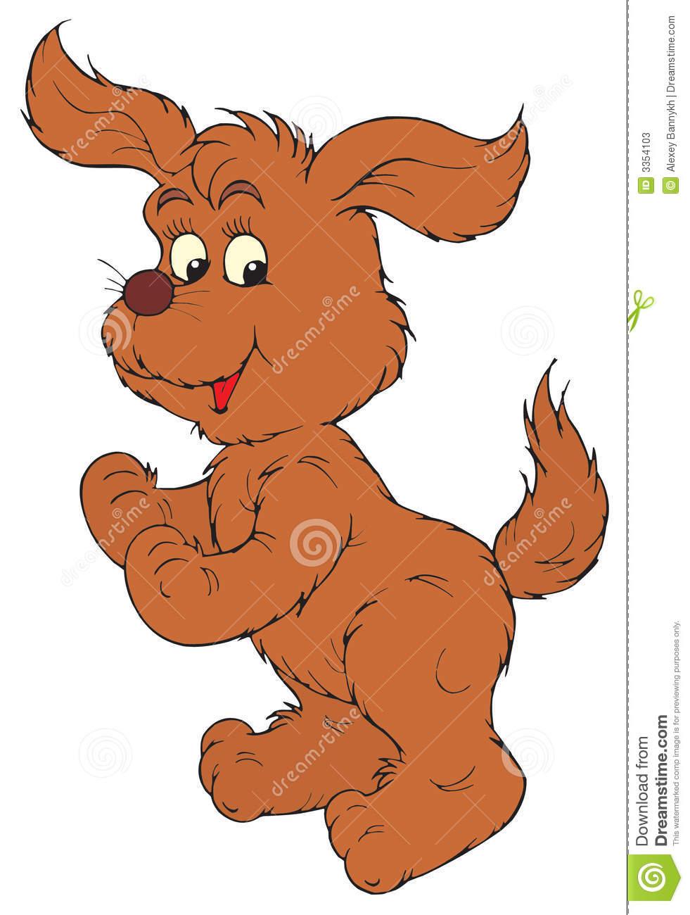 Brown vector clip art. Dog clipart stock