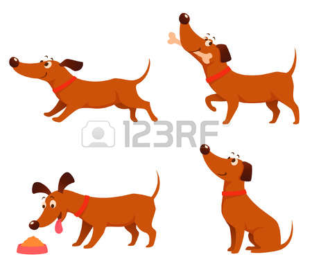 Dog clipart stock.  vector illustration and