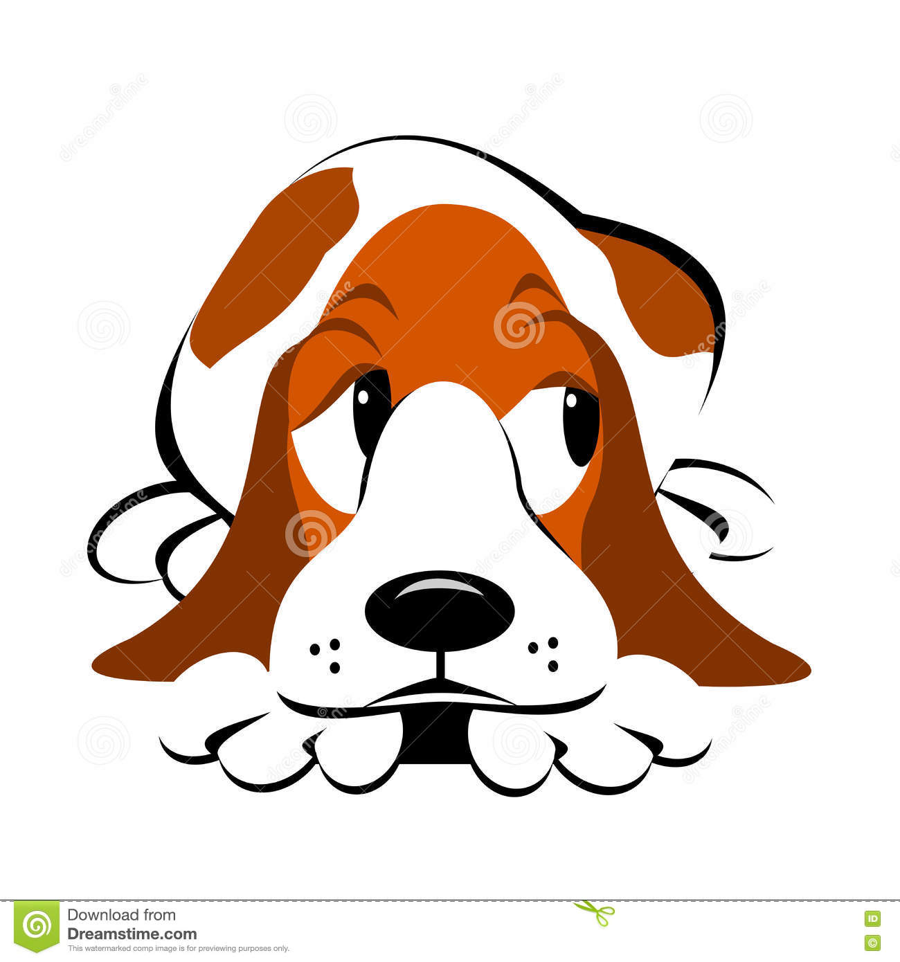 Dog clipart stock vector free stock Guilty Dog Clipart Stock Vector - Image: 77008121 vector free stock