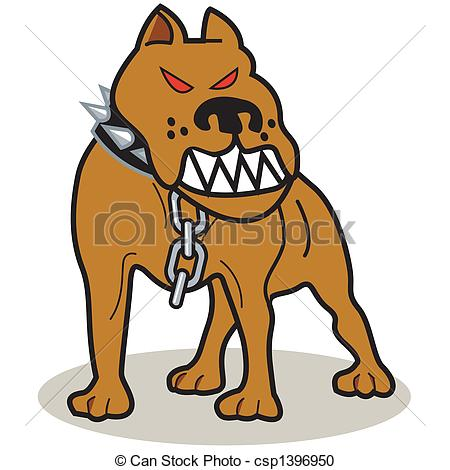 Vector of pit bull. Dog clipart stock